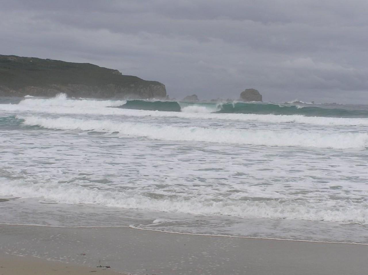 Praia de Santa Comba no inverno