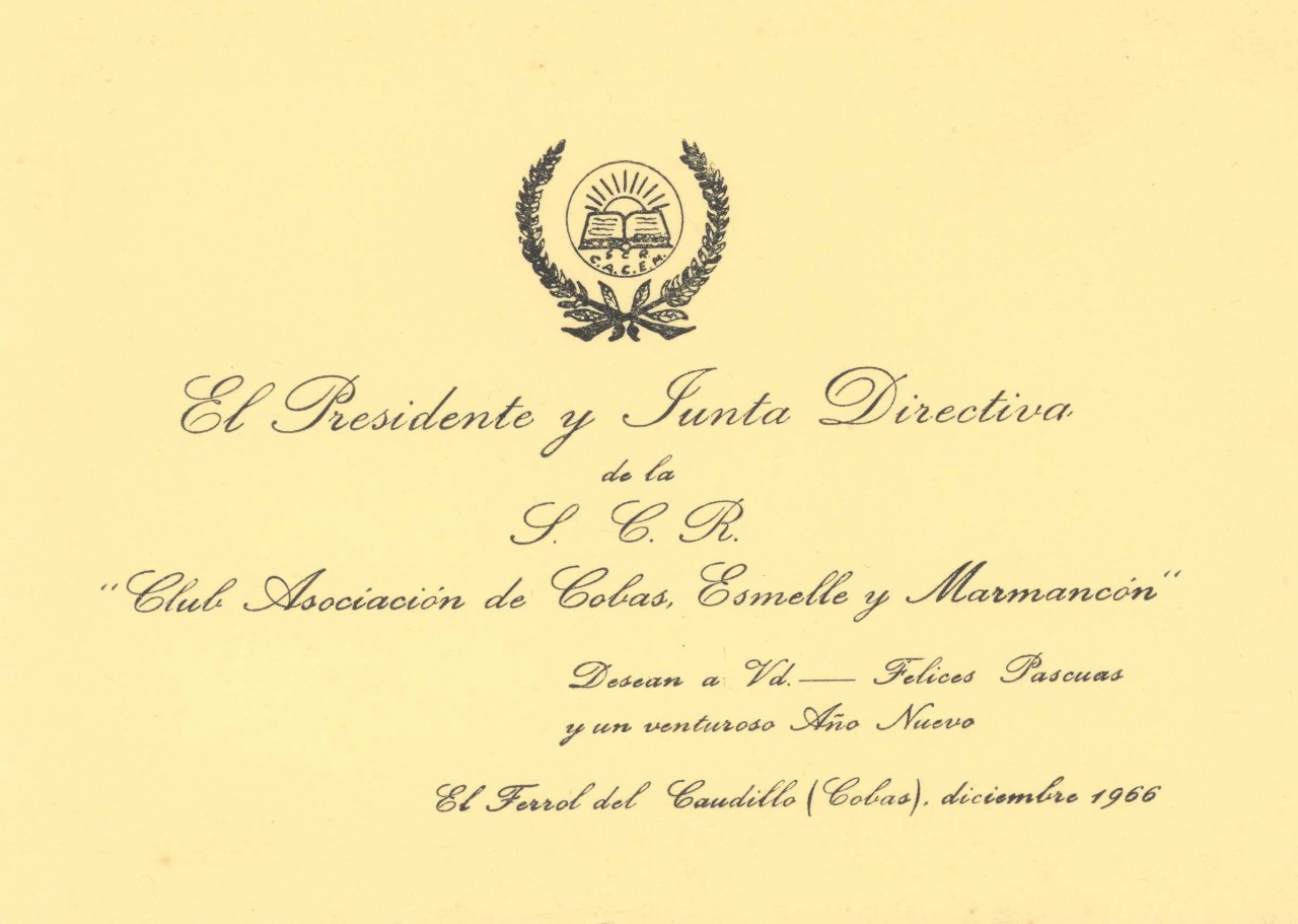 Modelo de invitacion da Sociedade Recreativa