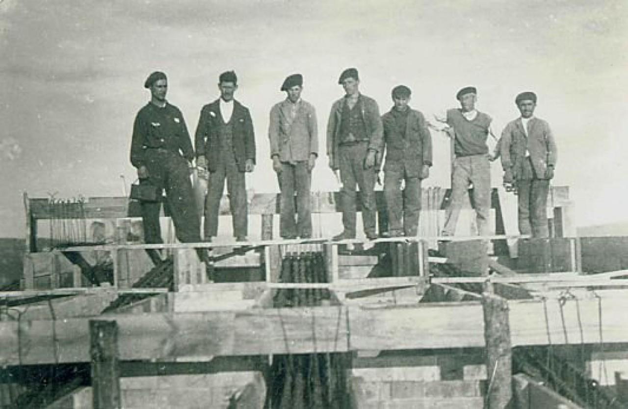 Construcción del edificio para el telémetro