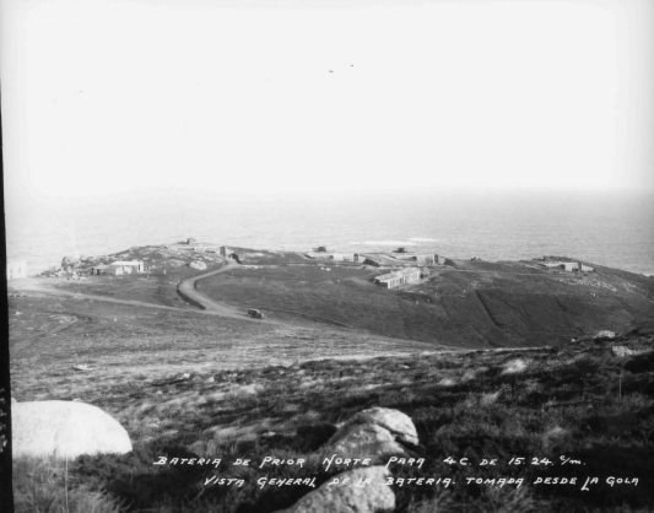 Vista general de la batería de Prior Norte en el año 1928