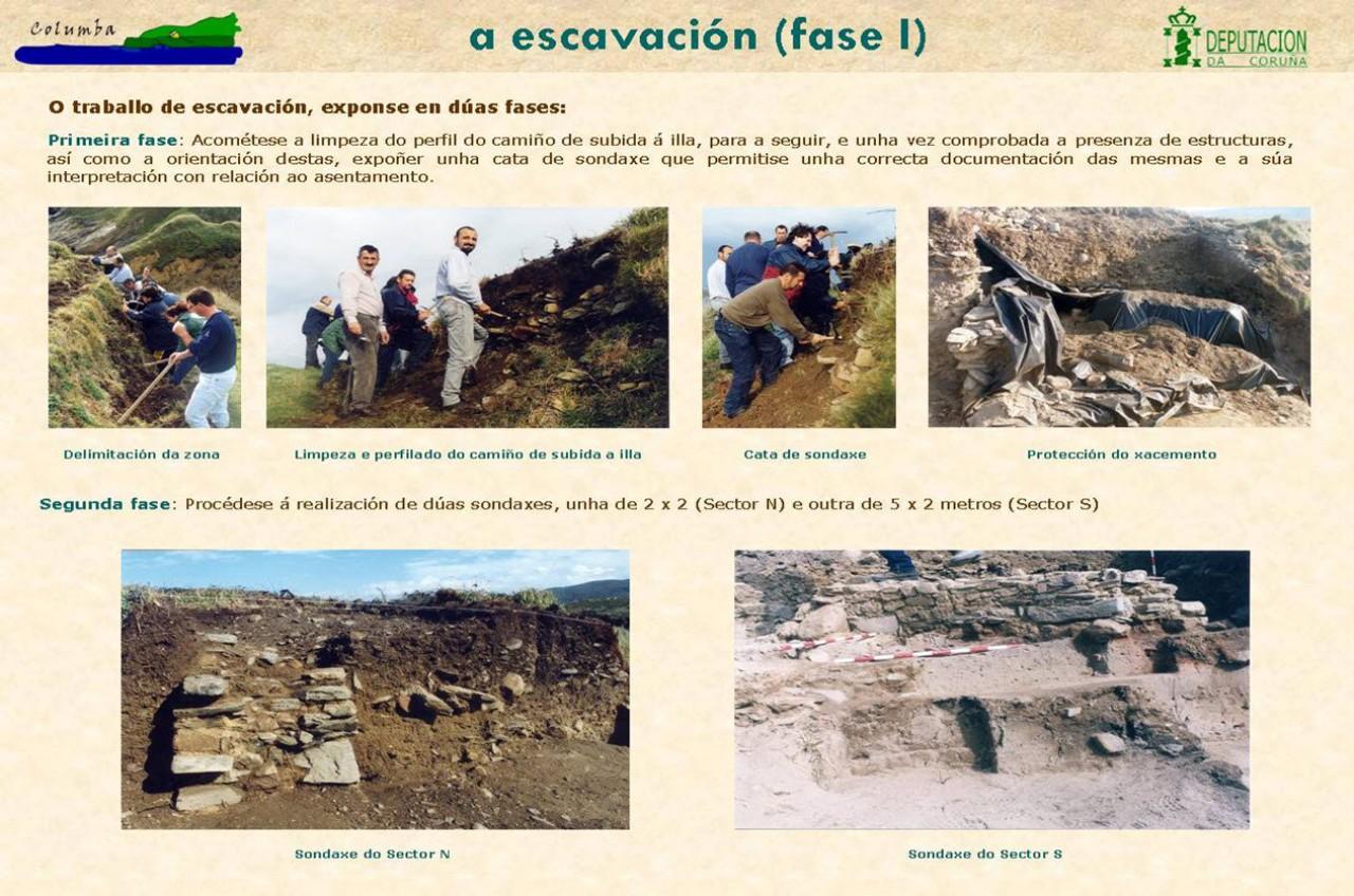 A escavación (fase I)