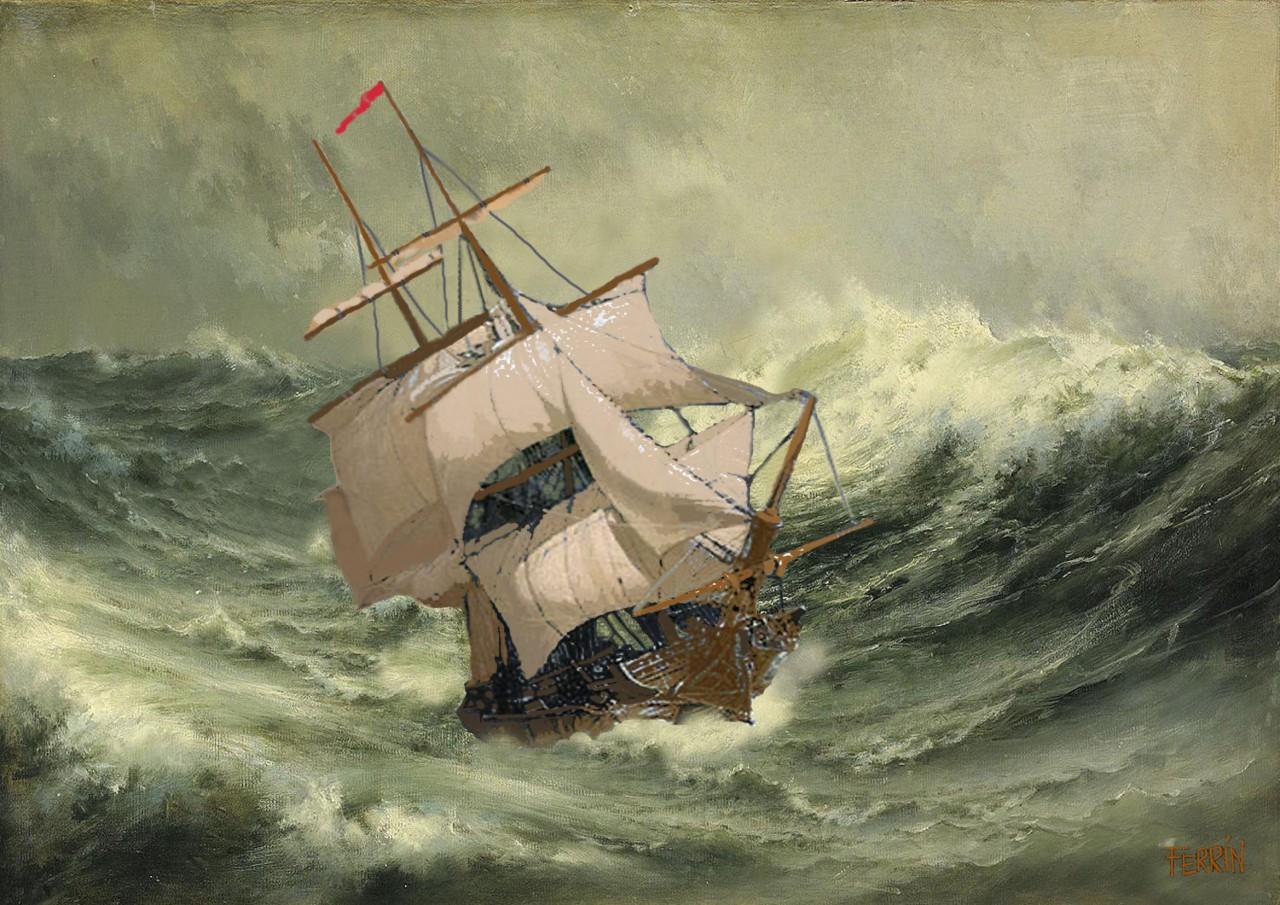 Recreación. Navegando con temporal
