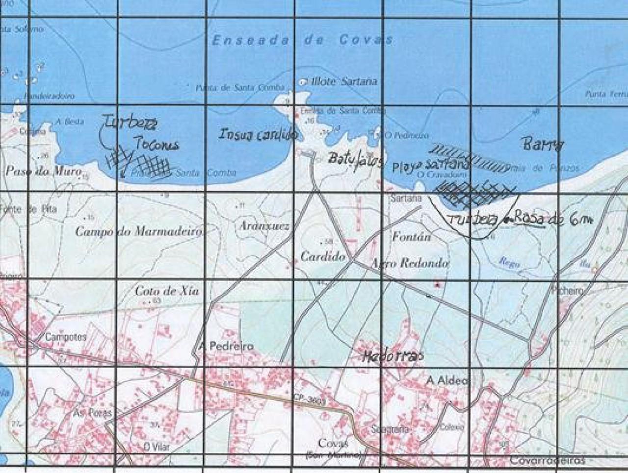 Ínsula Selima, los poblamientos. Turbera