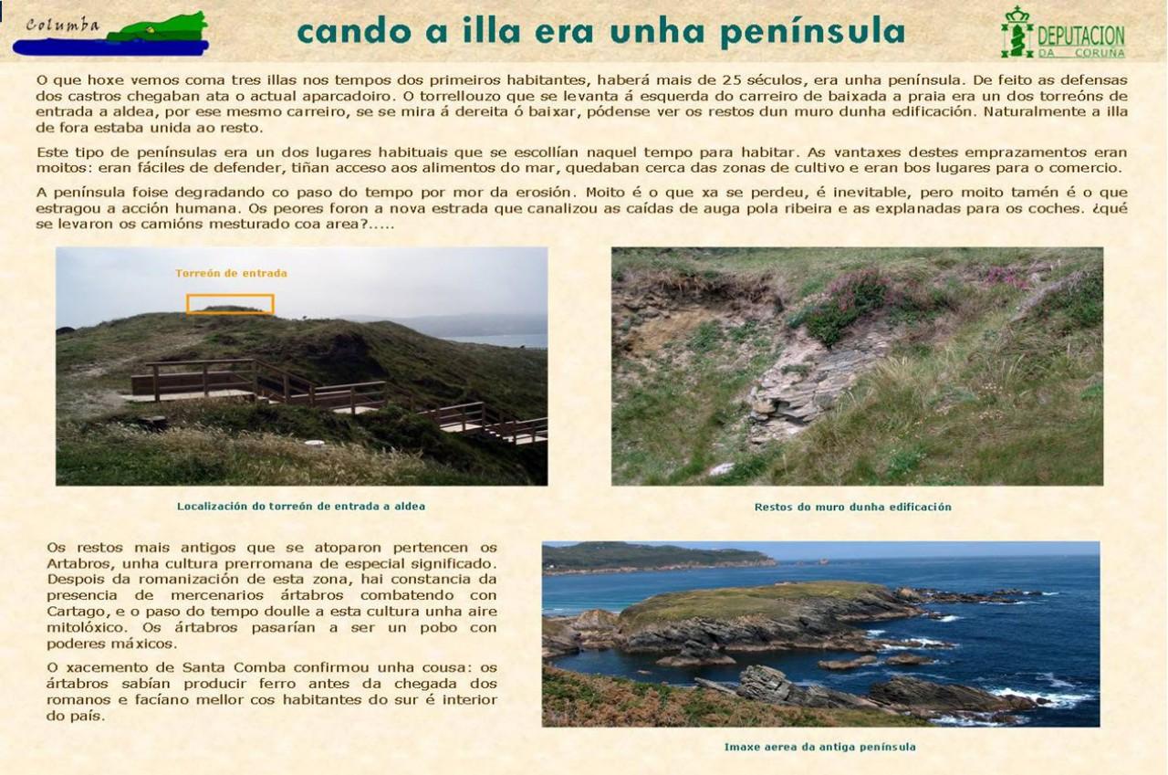 Cando a illa era unha península
