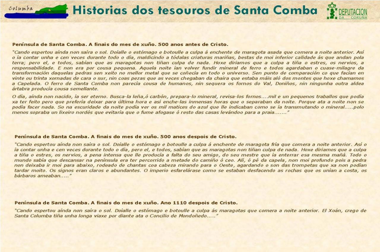 Historia dos tesouros de Santa Comba