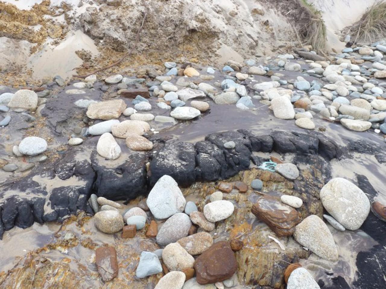 Sedimentos na Praia da Ponzos (21.03.2014)
