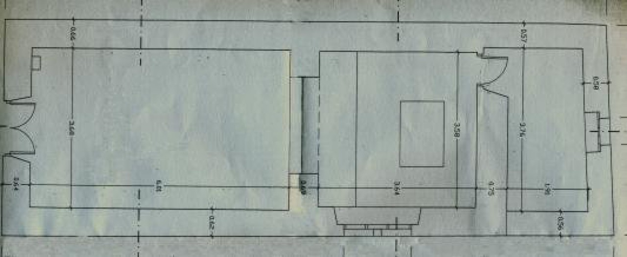 Arquitecturas medievais. Planta hermida de Santa Comba