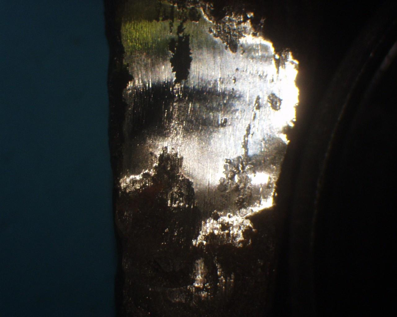 Analitica de replica metalografica del hacha de Quinta-1