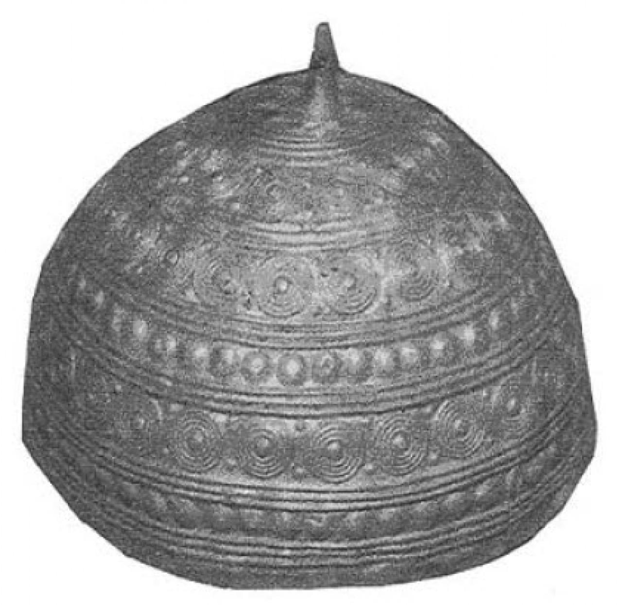 casco de iadon encontrado en leiro-rianxo