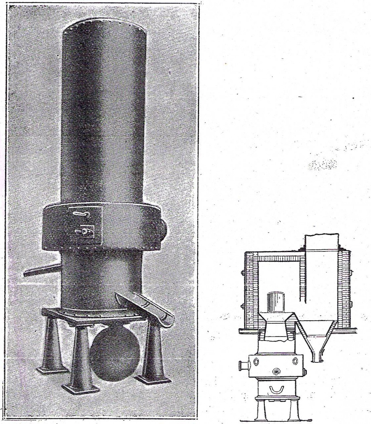 Cubilote para fundicion de hierro