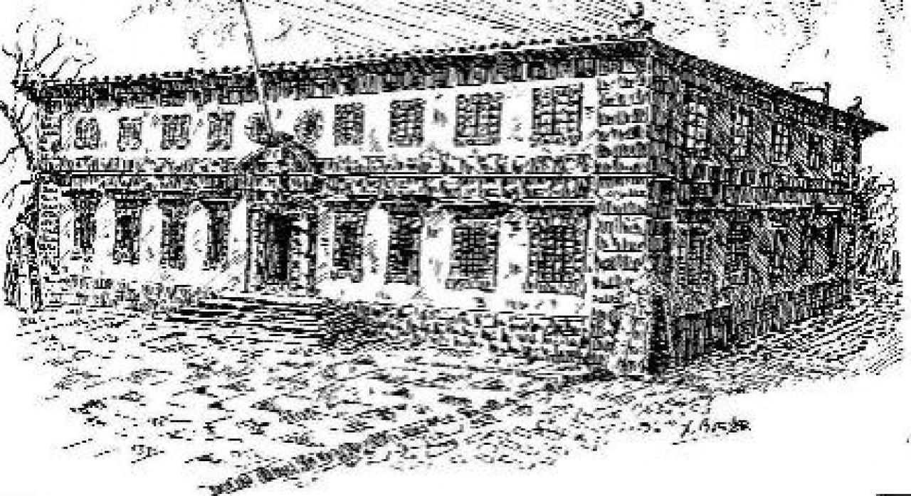 Gavillas e bandoleiros - Gravado do antigo edificio da cárcere de Ferrol