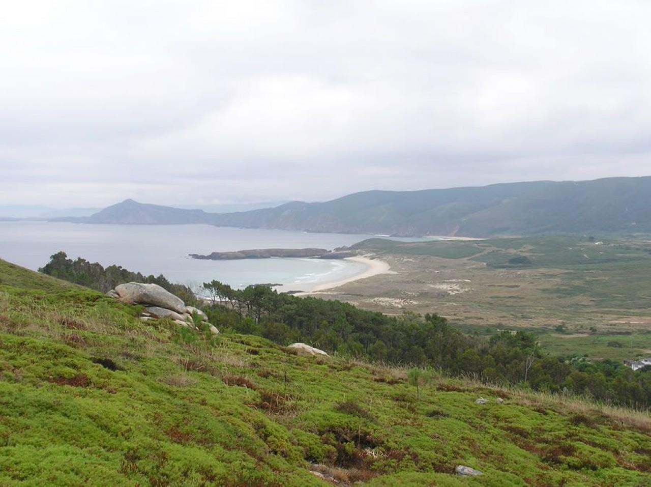 A praia dende o Cabo Prior