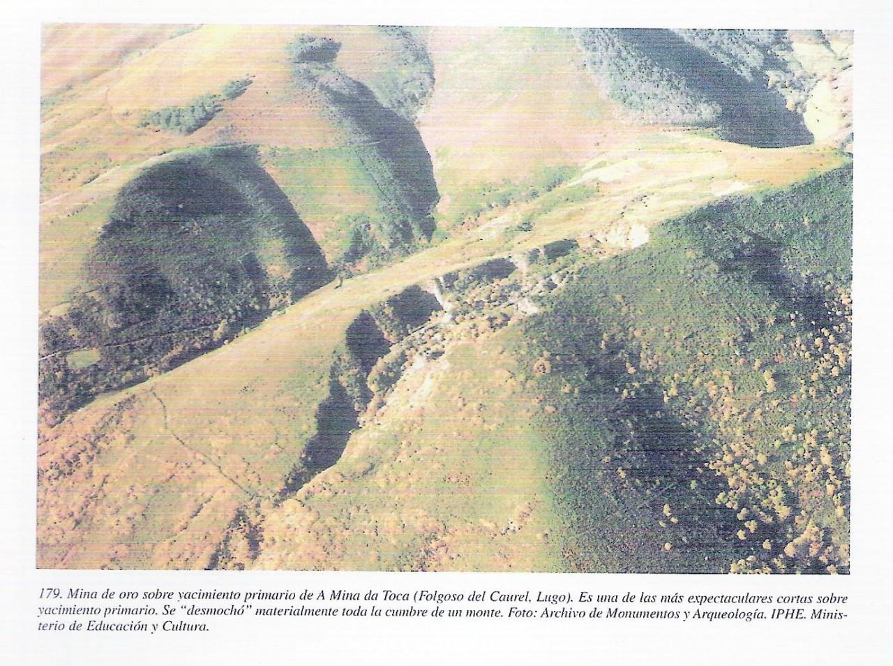 Mina antigua de oro O Caurel similar yacimiento de Cobarradeiras-Cobas