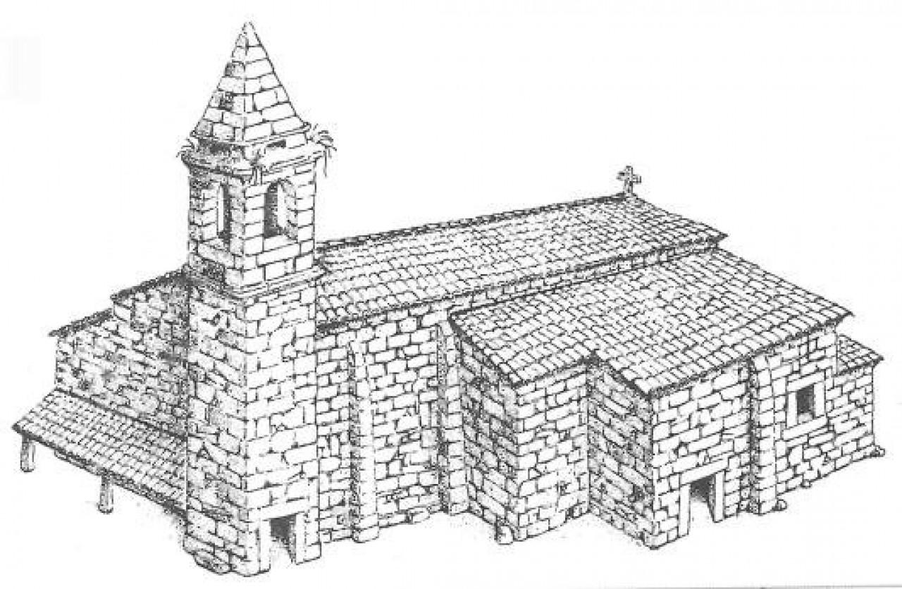 Aquitecturas medievais.Posible antiga Igrexa San Xulián